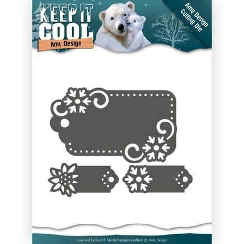 Amy Design Keep it Cool Cutting Die - Cool Tags - ADD10164