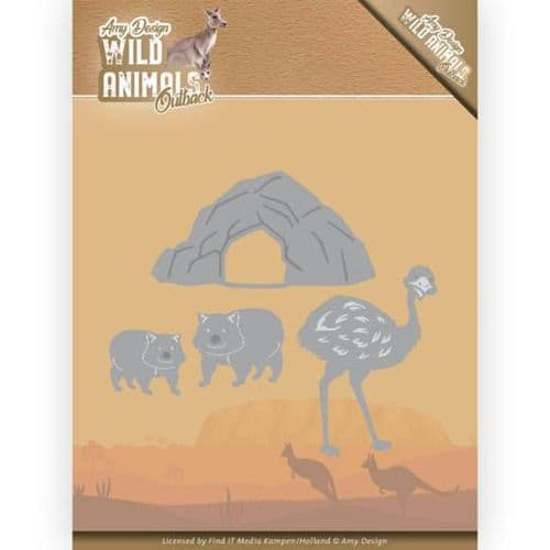 Amy Design Wild Animals Outback Cutting Die - Emu and Wombat - ADD10207