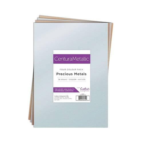 Centura Pearl - Precious Metals Metallic 36 Sheet Pack by Crafters Companion