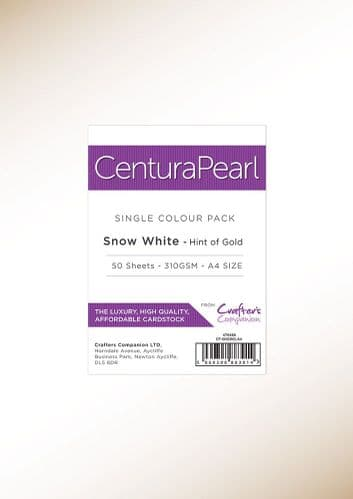 Centura Pearl - Snow White Gold A4 Printable Card Pack - 50 Sheets by Crafters Companion