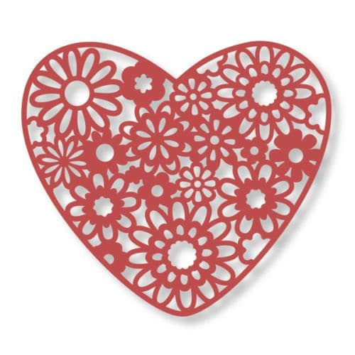 Couture Creations Floral Lace Collection - Heart Bouquet