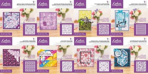 """Crafter's Companion 7"""" x 7"""" Background Stencil Collection"""