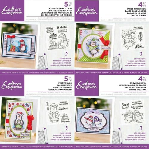 Crafter's Companion - Penguin Clear Acrylic Stamps