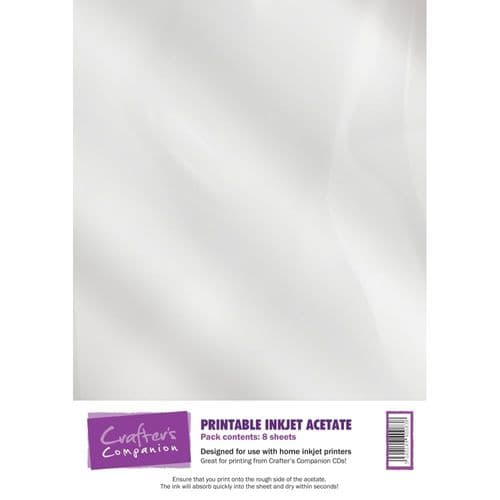 Crafter's Companion Printable Inkjet Acetate - 8 sheets