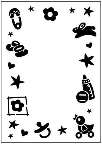 Crafts Too Embossing Folder - Baby Frame CTFD3041