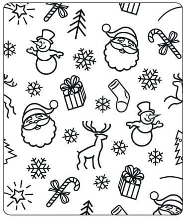 Crafts Too Embossing Folder - Christmas Background CTFD4007