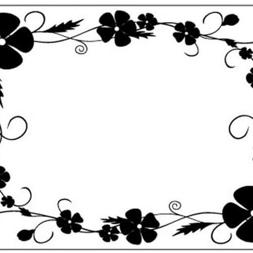 Crafts Too Embossing Folder - Pansy Frame CTFD4018