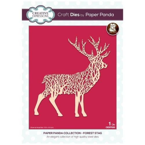 Creative Expressions Paper Panda Forest Stag Craft Die - CEDPP003