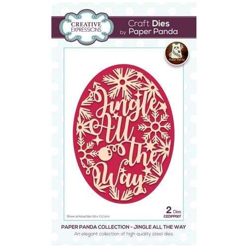 Creative Expressions Paper Panda Jingle All The Way Craft Die - CEDPP007