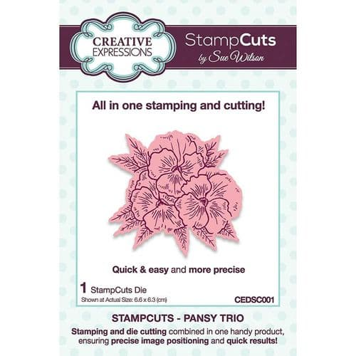 Creative Expressions Sue Wilson Pansy Trio StampCuts Die - CEDSC001