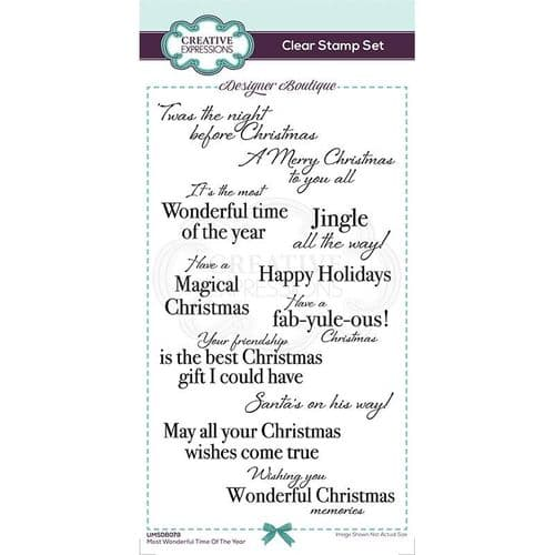 Designer Boutique Collection Most Wonderful Time Of The Year DL Clear Stamp Set - UMSDB079