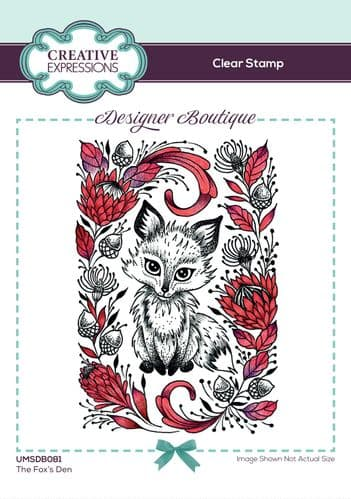 Designer Boutique Collection The Fox's Den A6 Clear Stamp Set - UMSDB081