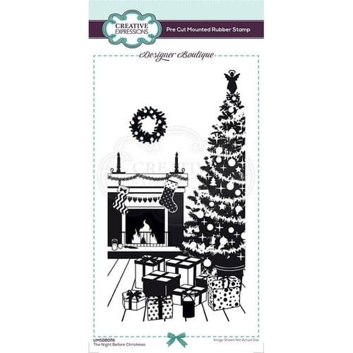 Designer Boutique Collection The Night Before Christmas DL Pre Cut Rubber Stamp - UMSDB076