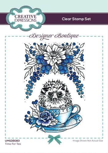 Designer Boutique Collection Time For Tea A6 Clear Stamp Set - UMSDB083
