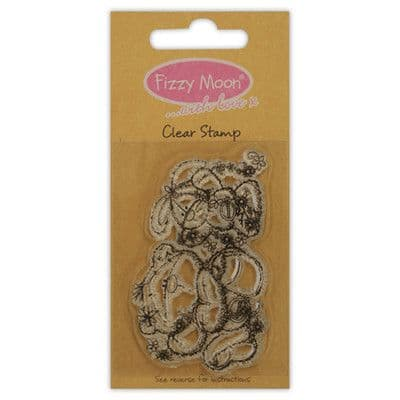 Fizzy Moon Clear Stamp - Friendship Teddy Bear Clear Stamp Everyday Collection