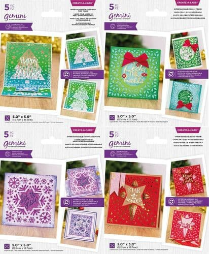 Gemini - Create-A-Card Interchangeable Christmas Dies by Crafters Companion