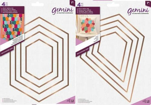 Gemini - Multi Media Patchwork Dies by Crafter's Companion