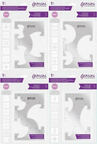Gemini - Rotating Quilting Pattern Guides by Crafter's Companion