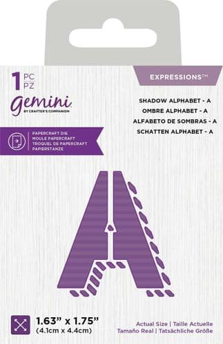 Gemini - Shadow Alphabet & Numbers by Crafter's Companion