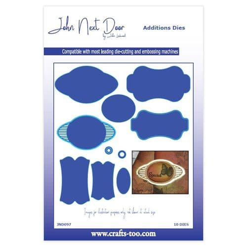 John Next Door Additions Dies - Funky Tags (10pcs) - JND097
