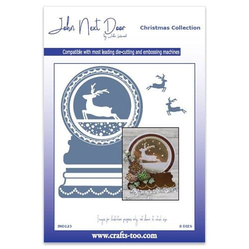 John Next Door Christmas Dies - Snowglobe (8pcs) - JND123