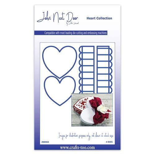 John Next Door Heart Die Collection - Heart Box (4pcs) - JND063