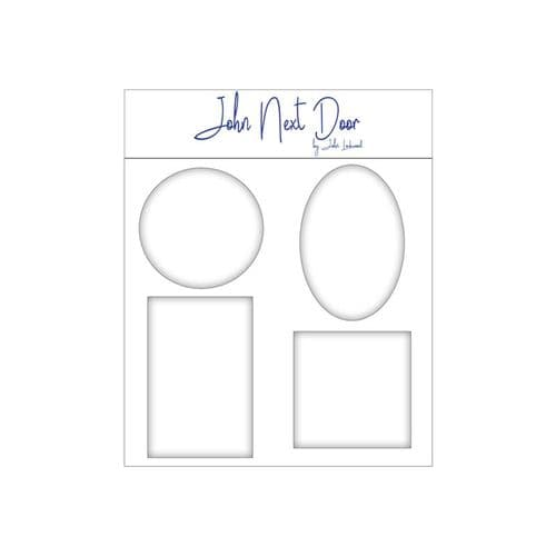 John Next Door Media Plate Set of 4 - Square, Rectangle, Oval & Circle - JLGP004