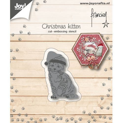 Joy Craft Cutting and Embossing Stencil - Franciens Christmas Kitten - 6002/1150