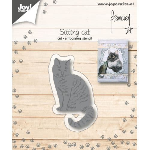 Joy Craft Cutting and Embossing Stencil - Franciens Sitting Cat - 6002/1151