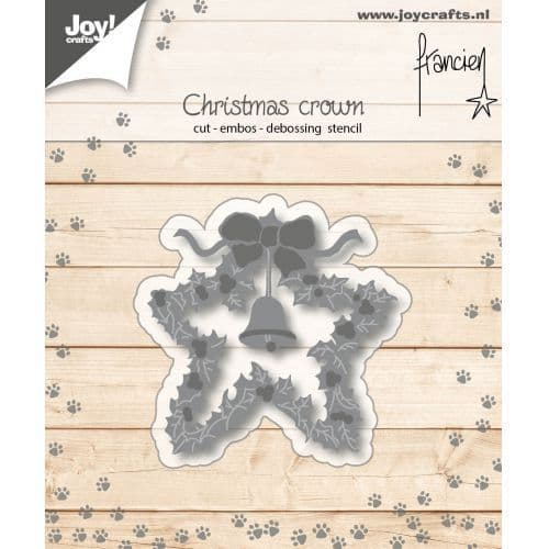 Joy Craft Cutting Embossing and Debossing Stencil - Franciens Christmascrown - 6002/1139
