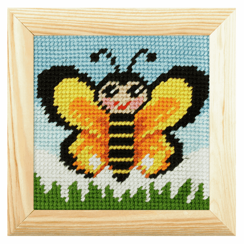 Orchidea - Needlepoint Kit: My First Embroidery: Mini: Butterfly