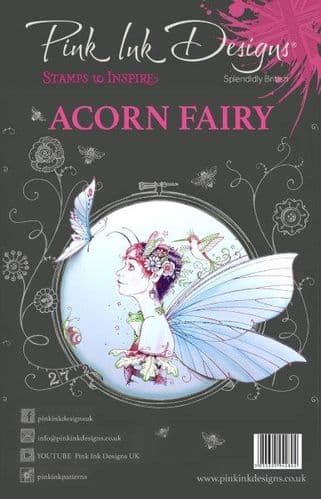 Pink Ink Designs Clear Stamp ACORN FAIRY - PI010