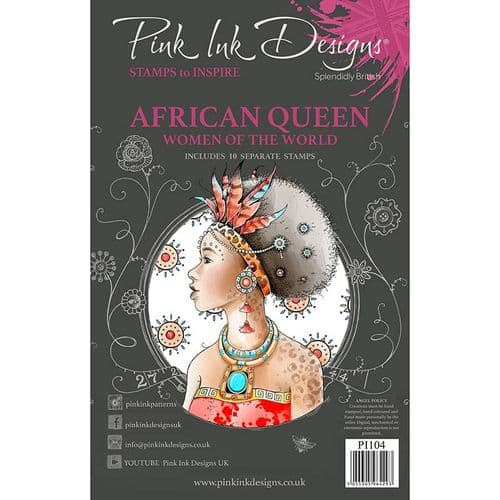 Pink Ink Designs Clear Stamp AFRICAN QUEEN - PI104