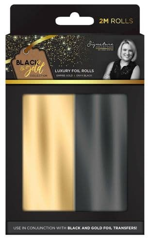 Sara Signature Collection - Black & Gold Foil Rolls by Crafters Companion
