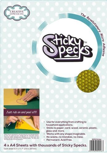 Sticky Specks Micro Adhesive Sheets 4 x A4