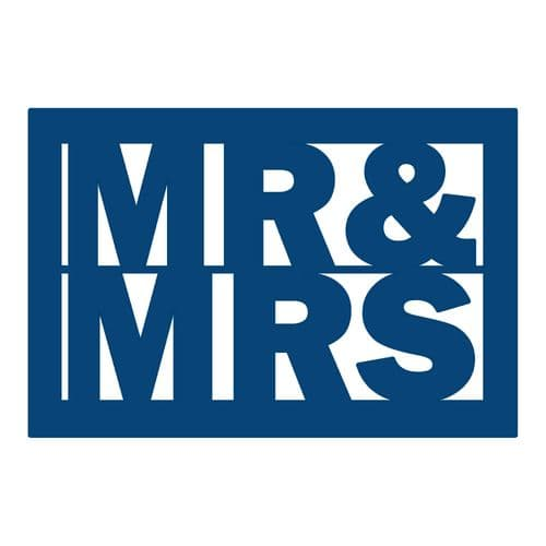 Tattered Lace - Mr & Mrs Plaque - D085