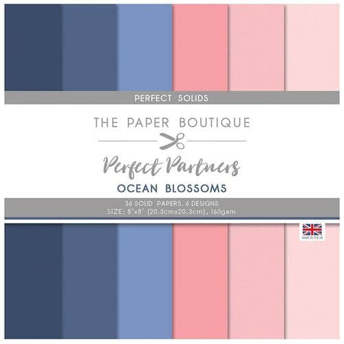 The Paper Boutique Perfect Partners – Ocean Blossoms 8×8 Solids Pad