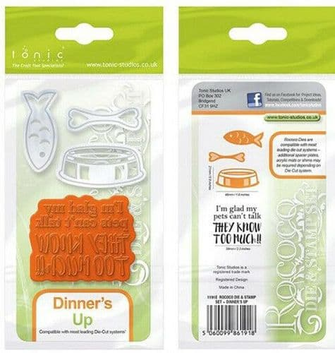Tonic Studios - Rococo Pampered Pets Dinner's Up - 1191E