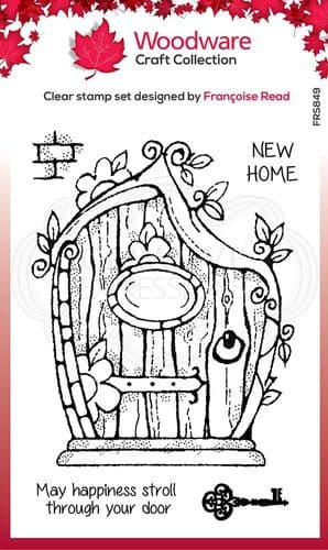 Woodware Clear Singles Fairy Door 4 in x 6 in Stamp - FRS849