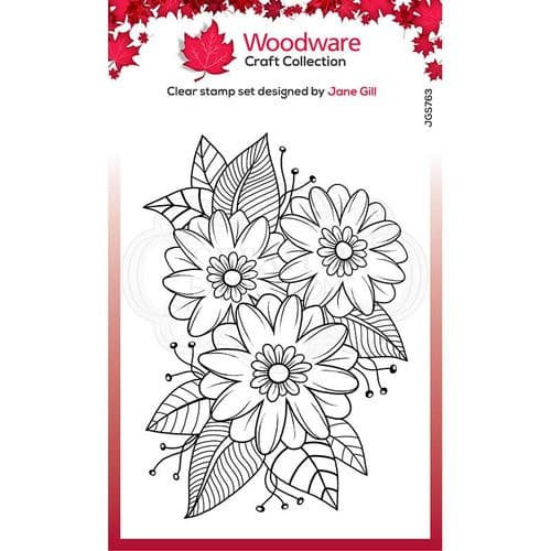 Woodware Clear Singles Passion Flower 4 in x 6 in Stamp - JGS763