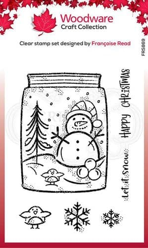 Woodware Clear Singles Snow Jar 4 in x 6 in Stamp - FRS869