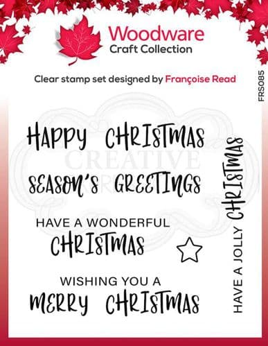 Woodware Clear Singles Useful Christmas 4 in x 4 in stamp - FRS085