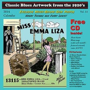 2014 BLUES CALENDAR - ORIGINAL ARTWORK FROM THE 20s/30s + CD INCLUDED