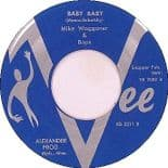 """45 Re ✦MIKE WAGGONER✦""""Baby Baby /Basher#5"""" All Time Favorite Guitar Rocker.Hear♫"""