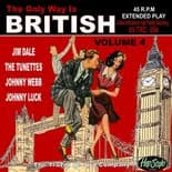 45Rpm EP ✦THE ONLY WAY IS BRITISH Vol. 4 ✦ British R'n'R Jivers .Hear♫