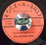 "45Rpm✦ HAL PETERS TRIO ✦ ""Heartbreakin' Love"" Superb Finnish Rockabilly 2 Sider♫"