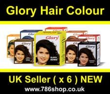 Glory Henna Hair Colour Dye ( Best Selling ) Brand new ( 6x10g Sachets ) Halal