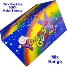 Halal Mix range Sweets ( 24 Packets ) Ideal for small party Yummy Gummy jelly