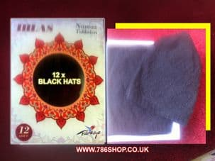 Mosque Pray Hats ( available in White & Black - Full Box ref: 3689 ) New