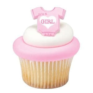 Baby Onesie Cupcake Ring: It's a Girl